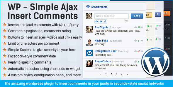 Simple Ajax Insert Comments - WordPress Plugin - CodeCanyon Item for Sale