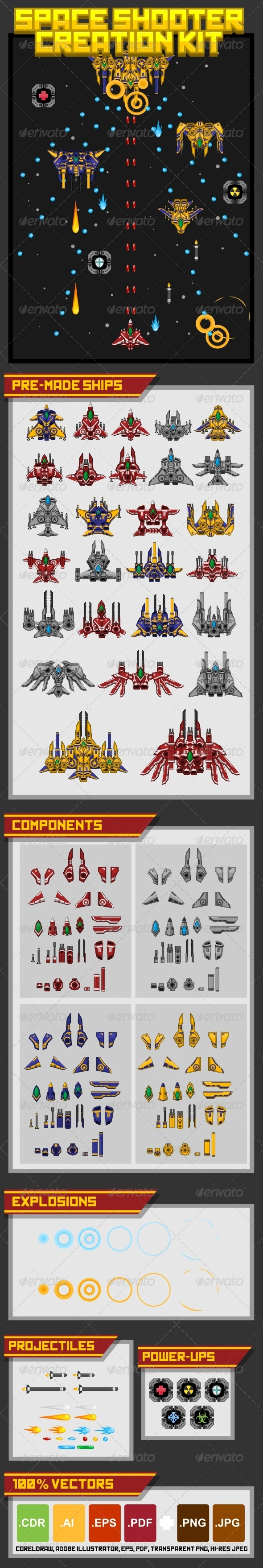 GraphicRiver Space Shooter Creation Kit 4896403