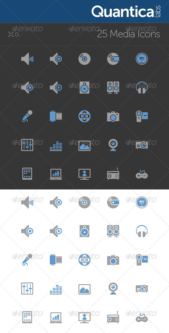 GraphicRiver 25 Media Icons 506857