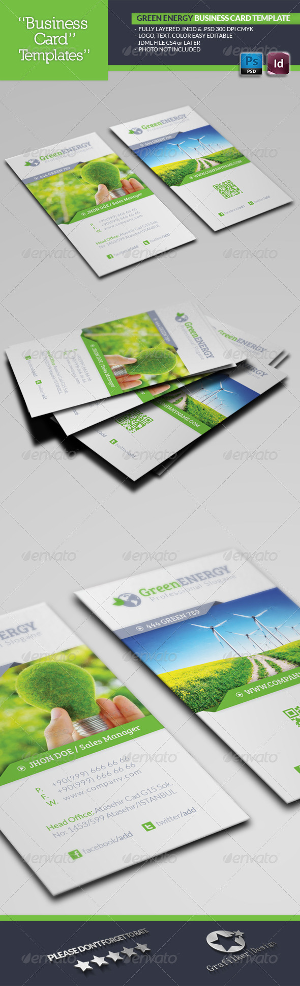 GraphicRiver Green Energy Business Card Template 4897471
