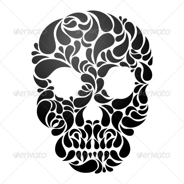 GraphicRiver Vector Skull 4898273