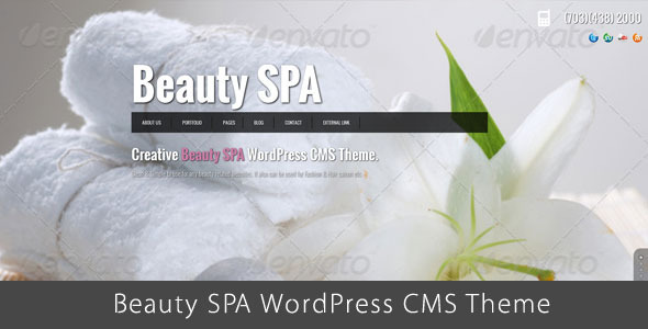 Beauty SPA - Ajaxified WordPress  CMS Theme - Health & Beauty Retail