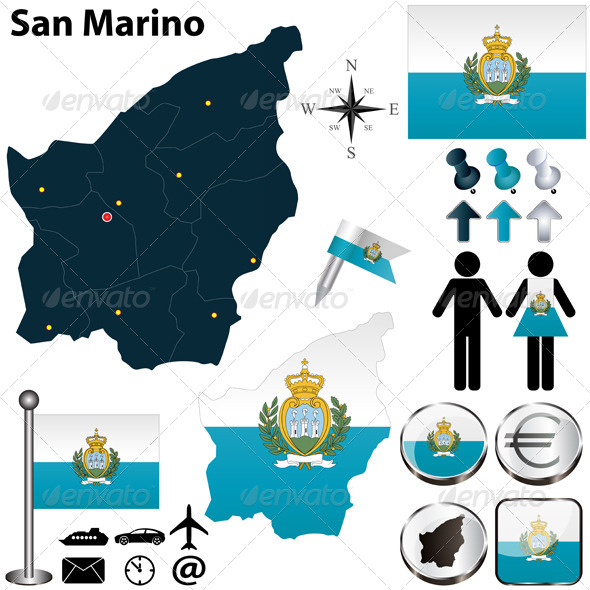 GraphicRiver Map of San Marino 4899114