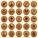 Wood Ecology Icons Set. Green Environment Symbols - GraphicRiver Item for Sale