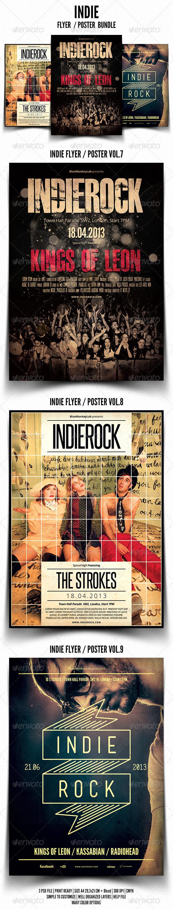 GraphicRiver Indie Flyer Poster Bundle 3 4900360