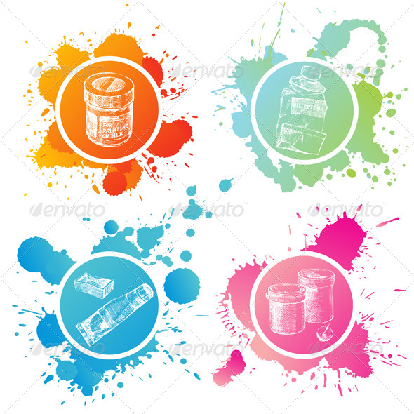GraphicRiver Paint Cans and Tubes 4900560