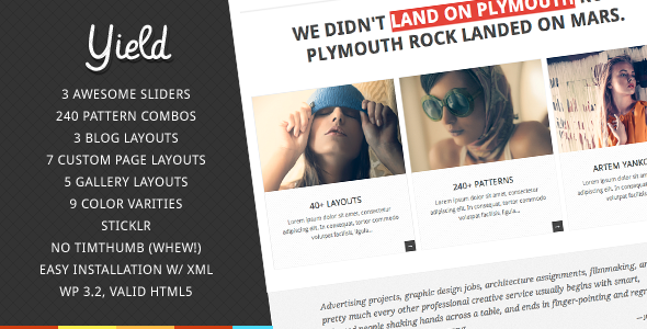Yield - Creative WordPress Theme