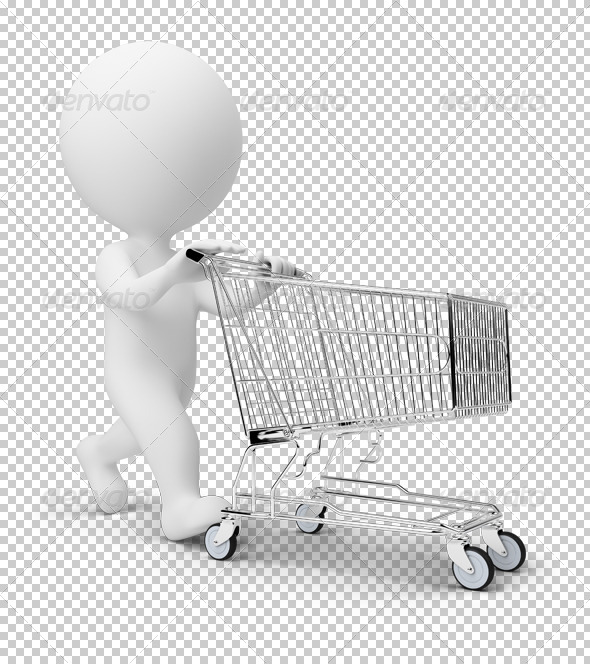GraphicRiver 3D small people cart 4900728