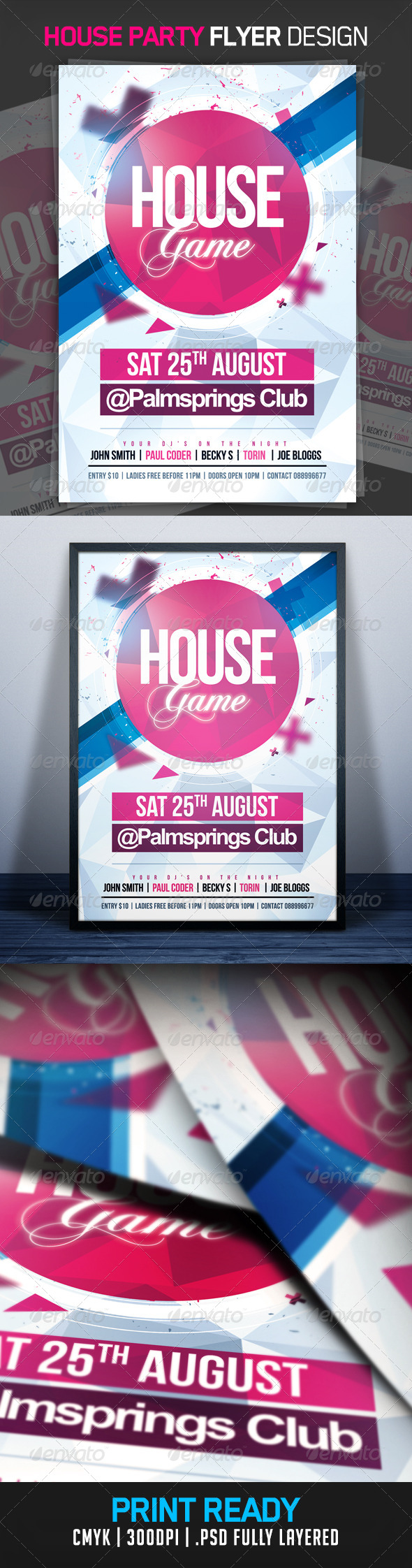 House Game Party Flyer - Clubs & Parties Events