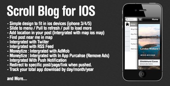 ScrollBlog per iOS ( Wordpress ) - WorldWideScripts.net articolo in vendita