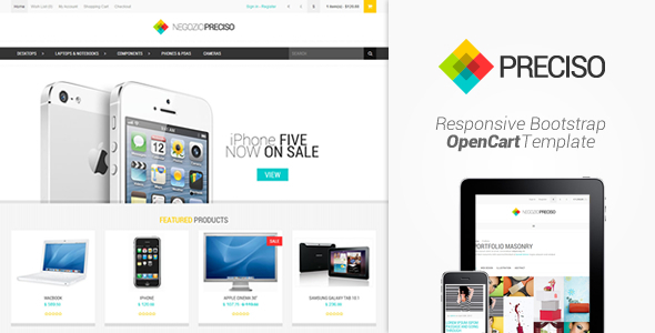 ThemeForest Preciso Responsive Bootstrap OpenCart Template 4847925