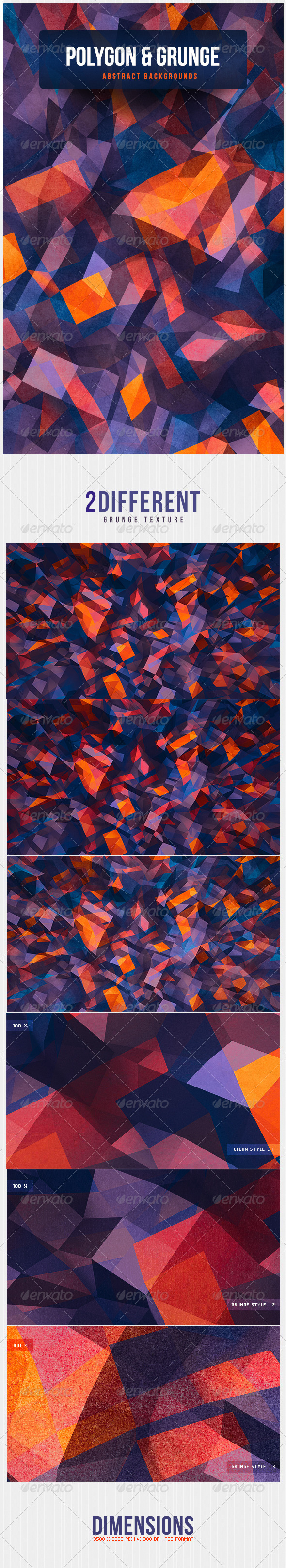 GraphicRiver Polygon & Grunge Abstract Backgrounds 4712946