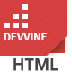 Devvine - Modern & Clean Responsive Site Template - ThemeForest Item for Sale