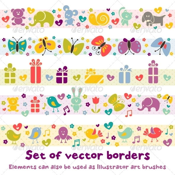 GraphicRiver Borders with Baby Icons 4902020