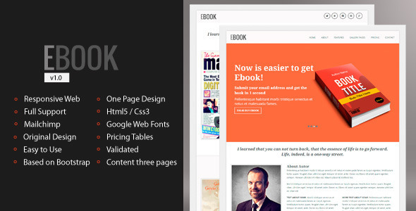 ThemeForest Ebook Responsive E-book Landing Page 4858604