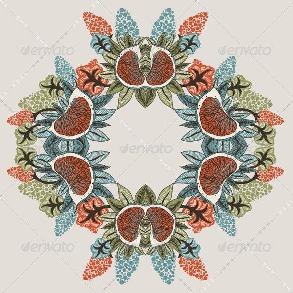 GraphicRiver Seamless Flower Pattern in Vector 4902278