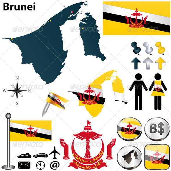 GraphicRiver Map of Brunei 4902308
