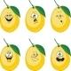 Emotion Cartoon Yellow Lemon Set 013 - GraphicRiver Item for Sale