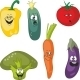 Emotion Cartoon Vegetables Set 011 - GraphicRiver Item for Sale