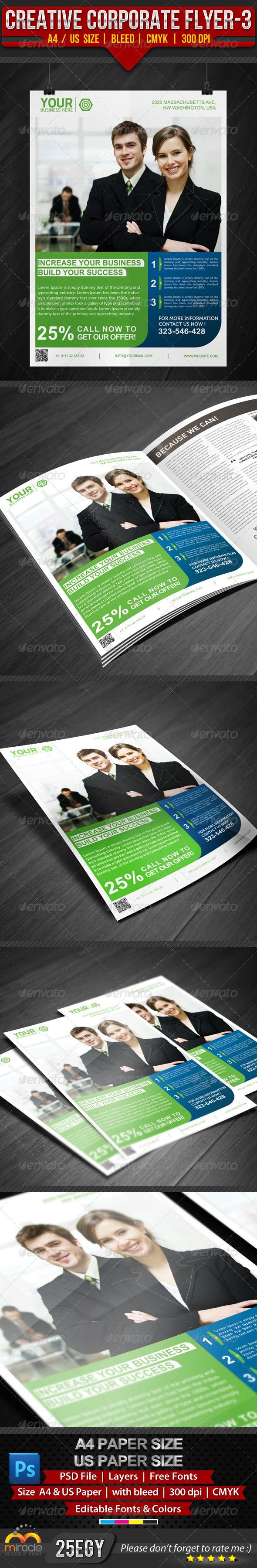 GraphicRiver Creative Corporate Flyer 3 4903877