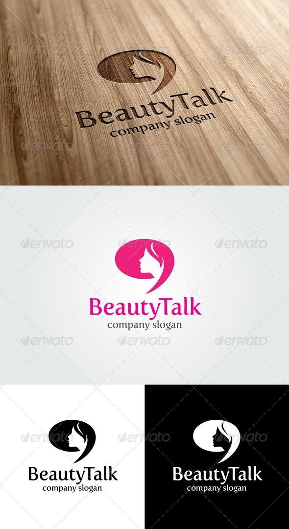 GraphicRiver Beauty Talk Logo 4892371