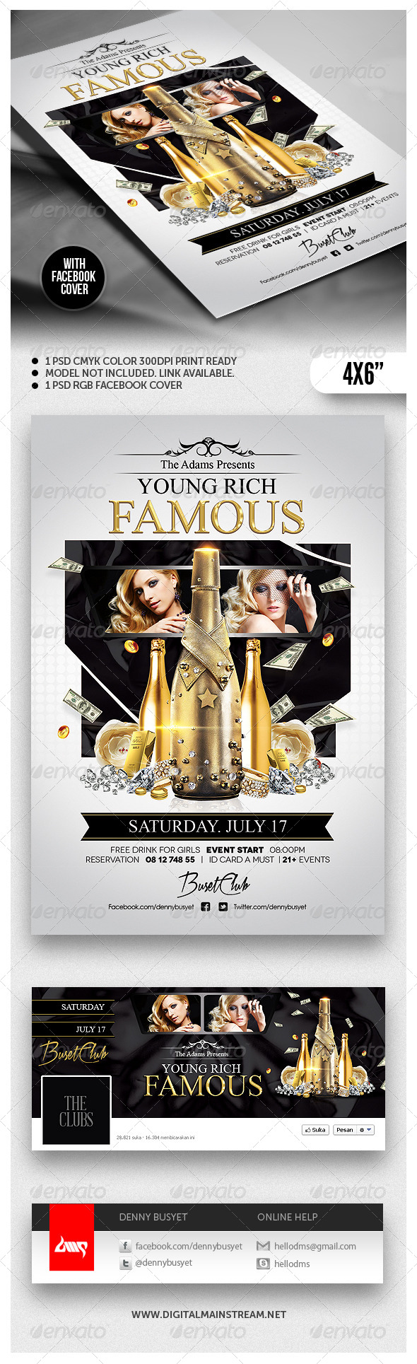 GraphicRiver Young Rich And Famous Flyer Template 4846803