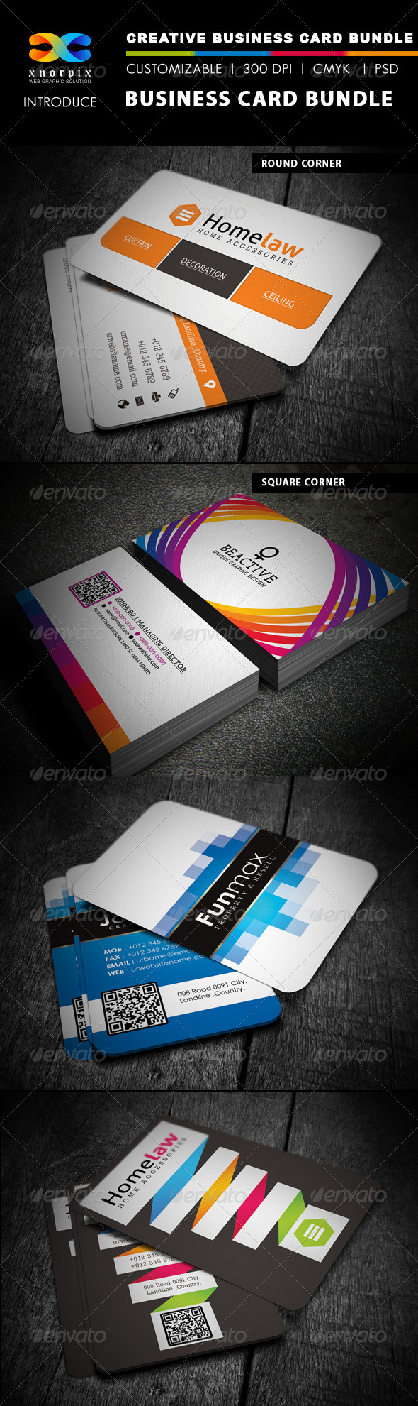 GraphicRiver Business Card Bundle 4 in 1-Vol 2 4904219
