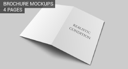 Brochure 4 Pages Mockups