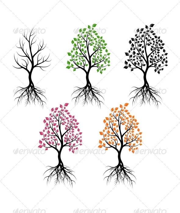 GraphicRiver Set of Trees 4904265