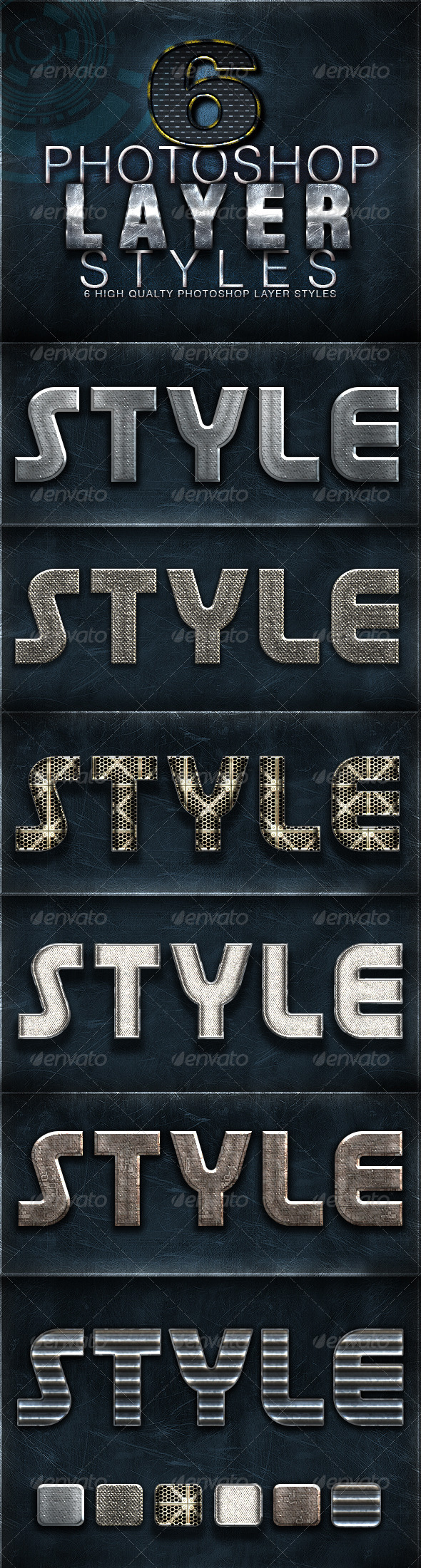 GraphicRiver 6 Photoshop Layer Styles 4904506