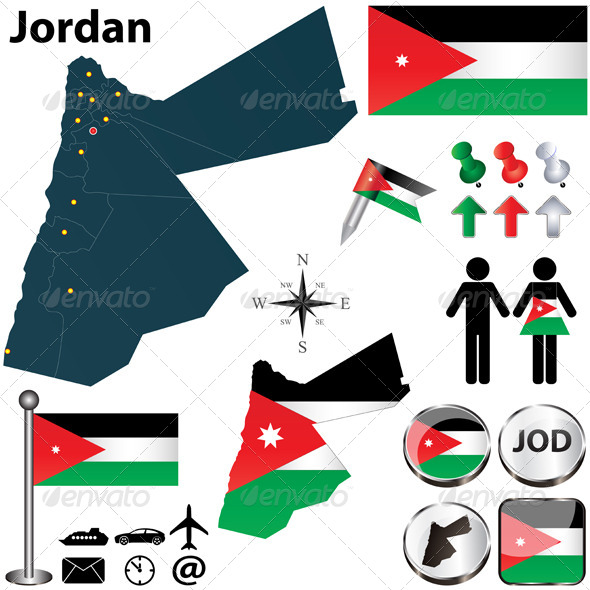 GraphicRiver Map of Jordan 4904601