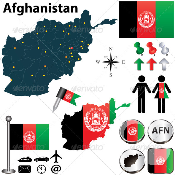 GraphicRiver Map of Afghanistan 4906407