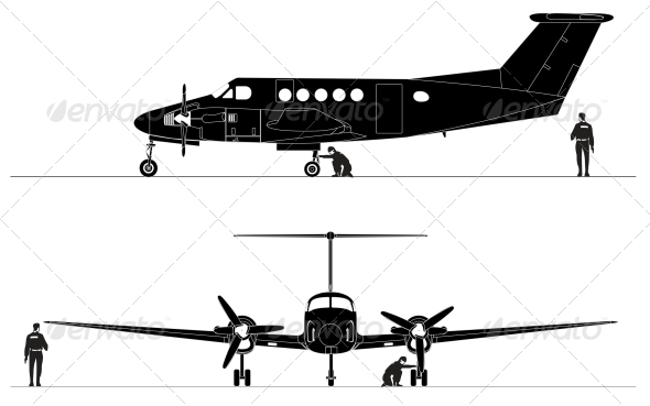 GraphicRiver Civil Utility Aircraft 4906773