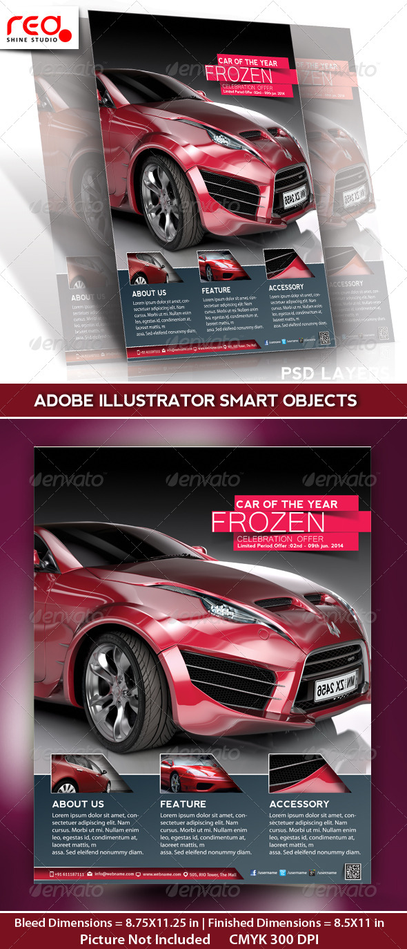 GraphicRiver Car Promotion Flyer Poster & Magazine Template 4906811