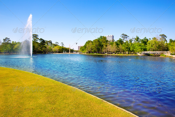 Houston Mc govern lake with spring water - Stock Photo - Images