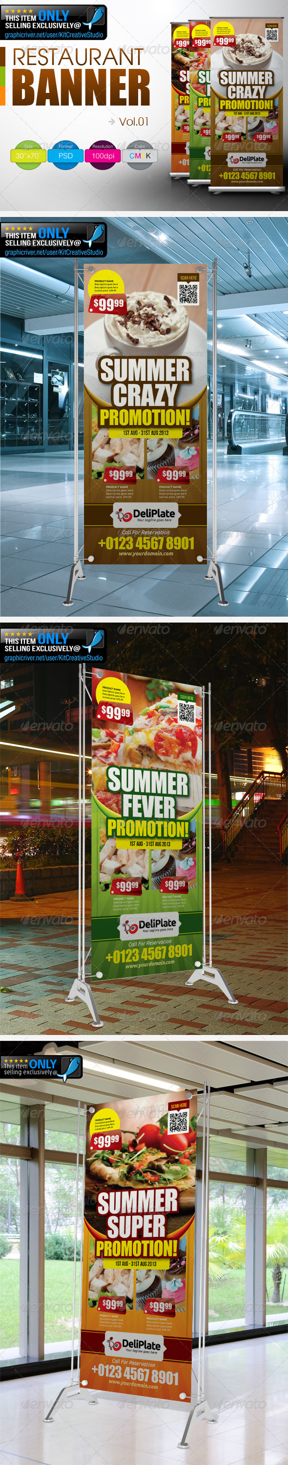 GraphicRiver Restaurant Banner Vol.1 4908866