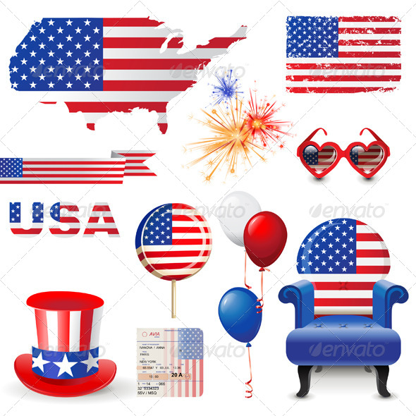 GraphicRiver American Flag 4909071
