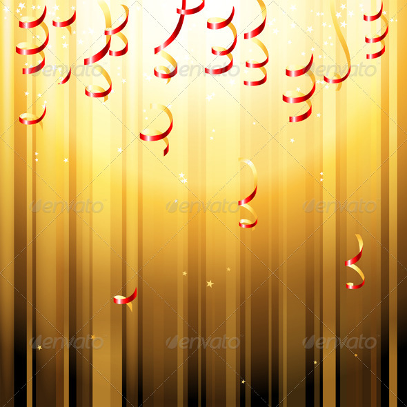 GraphicRiver Red Paper Streamers 4909119