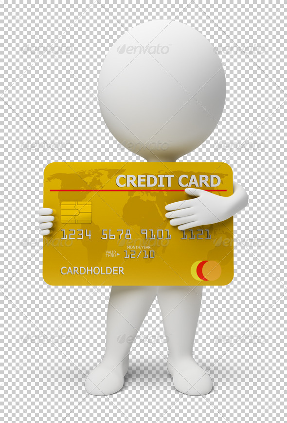 GraphicRiver 3D small people credit card 4909359