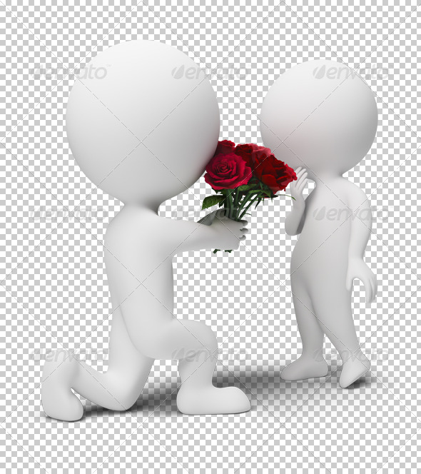 GraphicRiver 3D small people bouquet for the darling 4909401