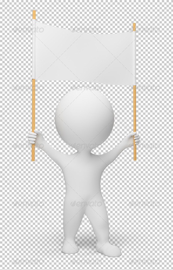 GraphicRiver 3D small people demonstrator 4909478