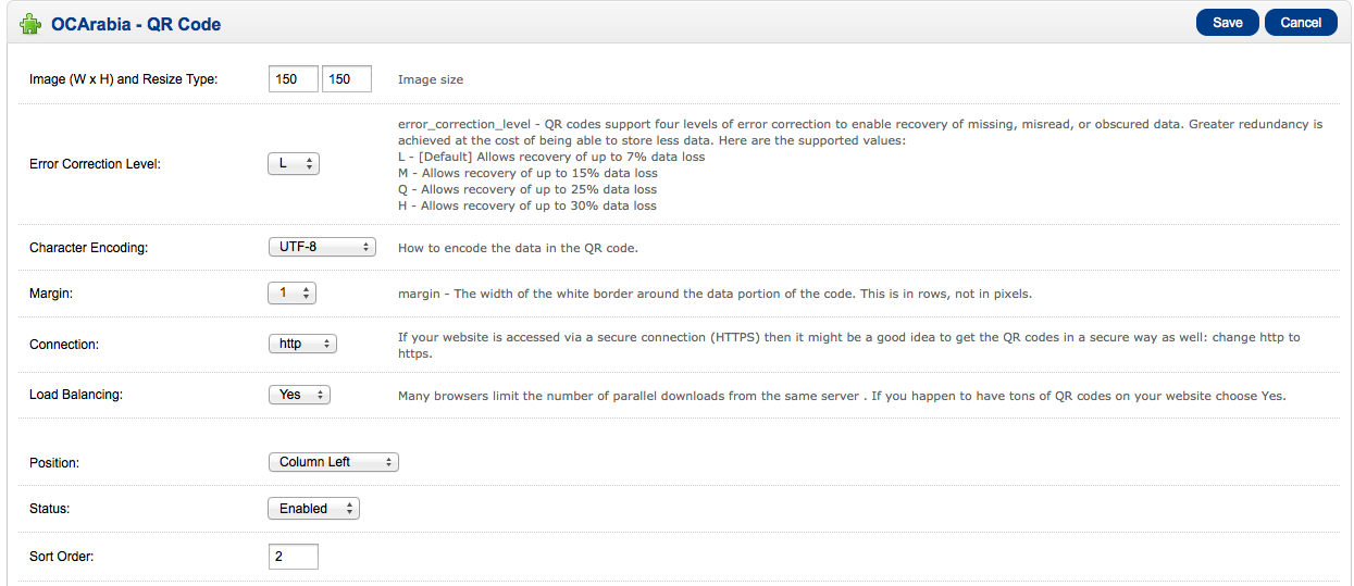 OCArabia கோட் சேவ் ரத்து படஅளவை 150 பட அளவு குறியீடுகள் நான்கு நிலைகள் பிழை திருத்தம் மீட்பு காணாமல், தவறாக, பாதுகாப்பில்லாமல் தரவு செயல்படுத்த ஆதரவு . கிரேட்டர்