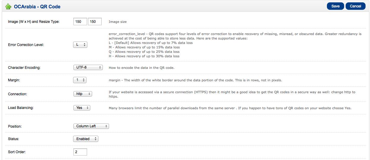 。 OCArabia代码保存取消图像缩放150图像尺寸代码支持四个层次纠错启用恢复丢失,误读,模糊的数据。大