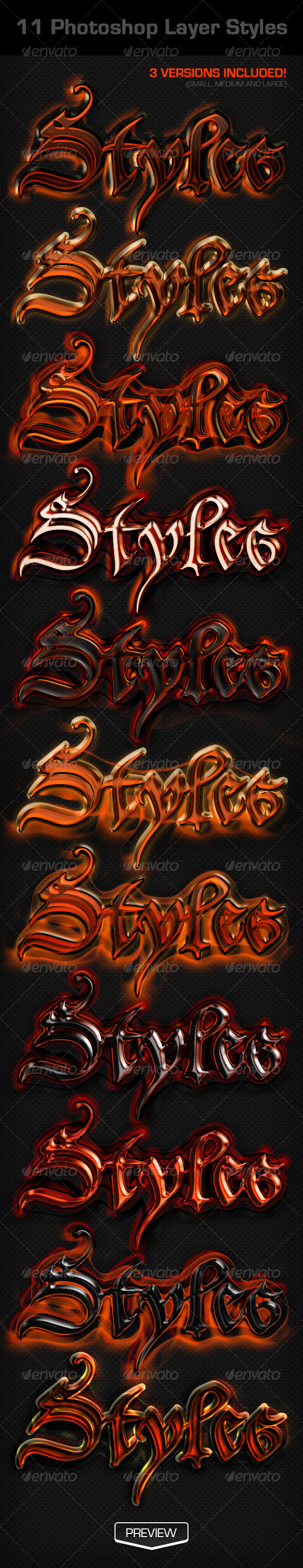 GraphicRiver 11 Photoshop Layer Styles 4914240