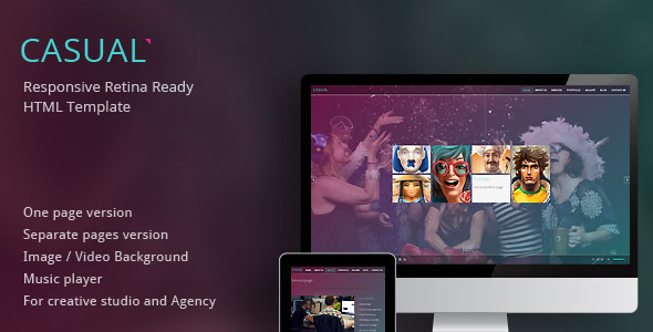 casual - Responsive Retina Ready HTML Template - Creative Site Templates