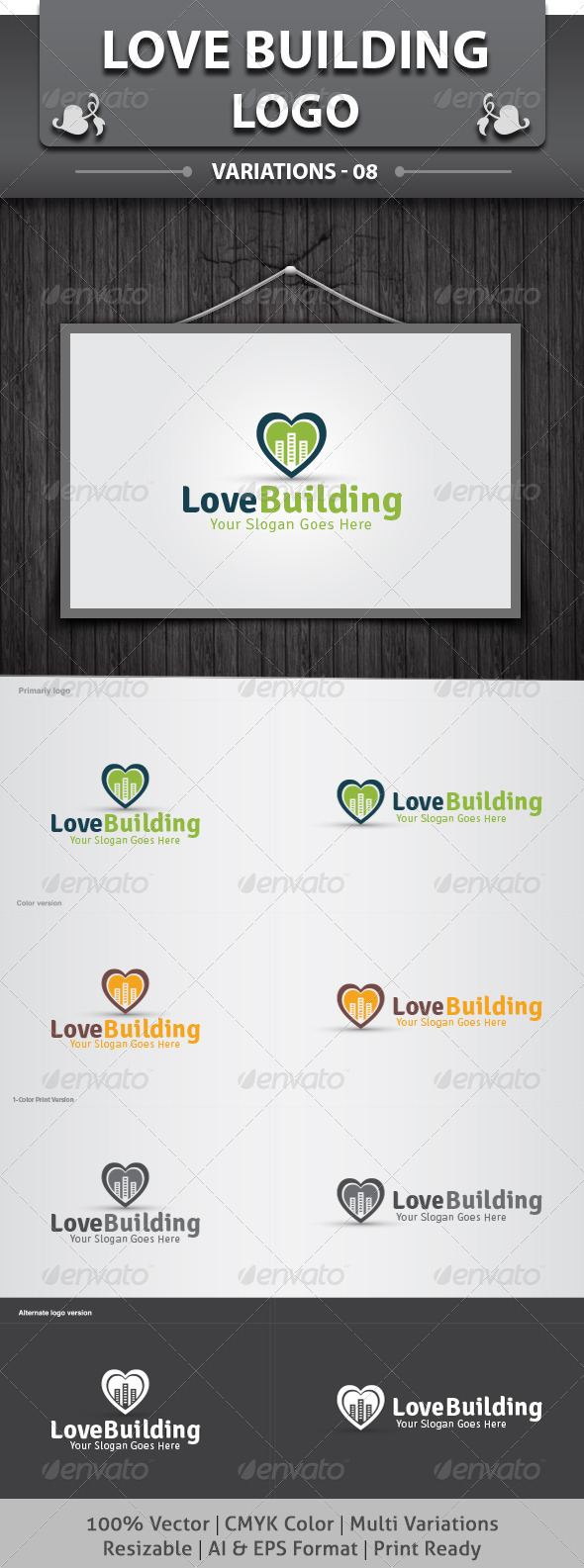 Love Building Logo - Objects Logo Templates