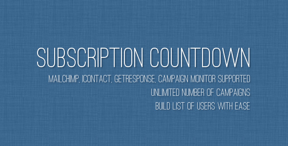 Subscription Countdown - CodeCanyon Item for Sale