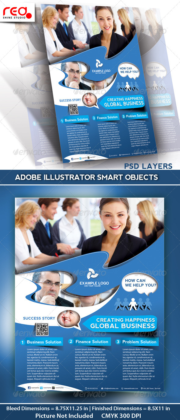 GraphicRiver Business Promotion Flyer Poster & Magazine Template 4916241
