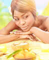 Black girl on spa resort - PhotoDune Item for Sale