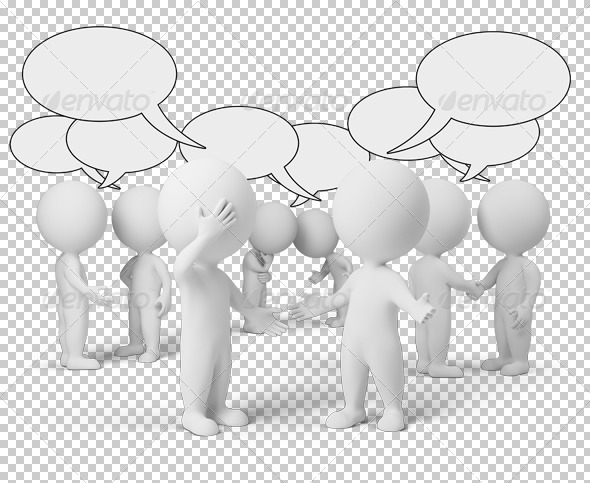 GraphicRiver 3D small people discussion 4917165
